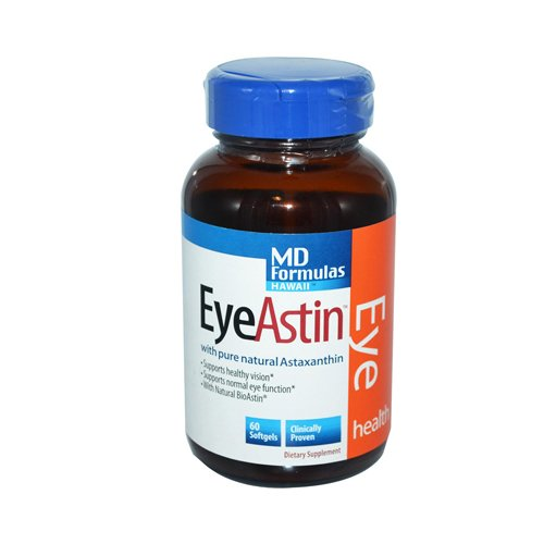 MD Formulas Hawaii EyeAstin Vegetarian Softgels, ( 1 x 60 Count)