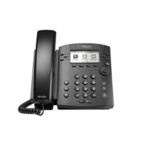 POLYCOM VVX 300 6-line Desktop Phone with HD Voice PoE without Power Su (Line Voip Desktop Phone)