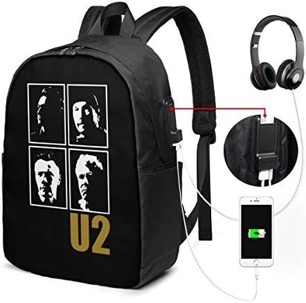 ビジネスリュック U2 ユーツー ヨシュア トゥリー メンズバックパック 手提げ リュック バックパックリュック 通勤 出張 大容量 イヤホンポート USB充電ポート付き 防水 PC収納 通勤 出張 旅行 通学 男女兼用
