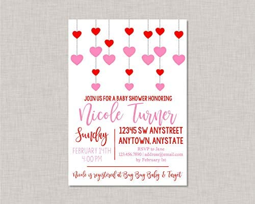 Amazon Com Ruskin352 Valentine Baby Shower Invitation Valentines
