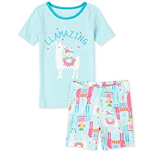 The Children's Place Girl's Graphic Sleeve Pajama Short Set