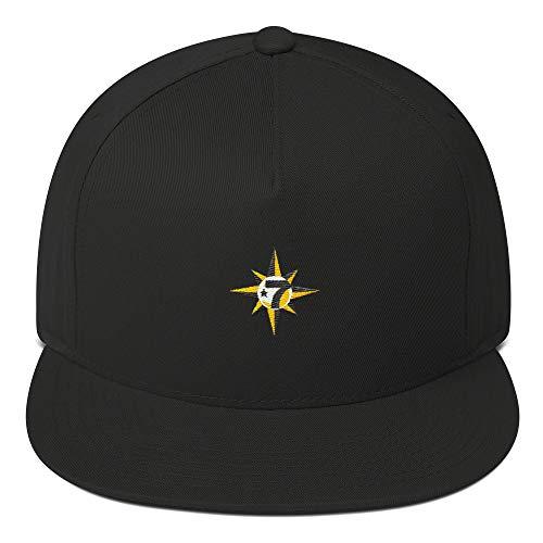 in The Name of Allah 7 Logo Crescent Star 5 Percent Flat Bill Cap Snapback Hat Black