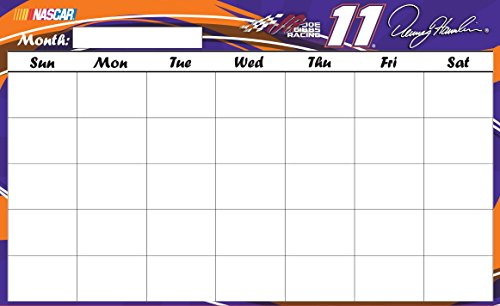 NASCAR #11 DENNY HAMLIN calendar dry erase-9.5