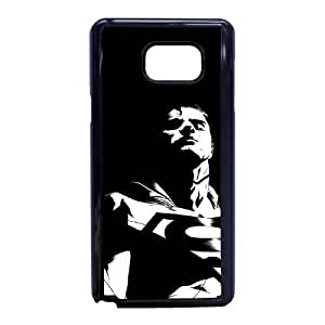 Antecedentes G2G22 Superman oscuro P8M3NT funda caso funda Samsung Galaxy Note 5 teléfono celular cubren XA7YMW2AN negro