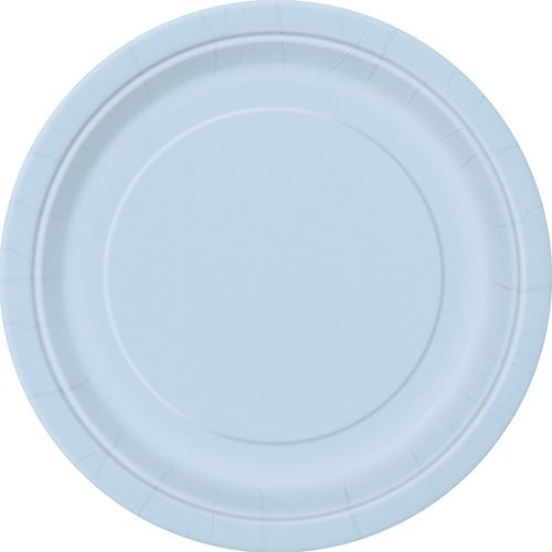 light blue dinner plates - 7