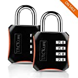 Padlock, HCL3B Heavy Duty 4-Digit Re-settable Combination Locks, Luggage Locks for Gym, Indoor& School or Sports Locker, Toolbox, Fence Daily Use(2 Packs)
