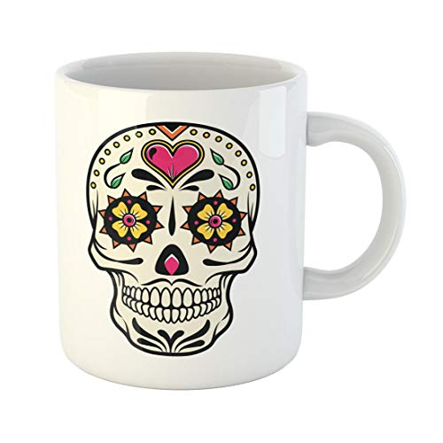 Semtomn Funny Coffee Mug Sugar of Skull the