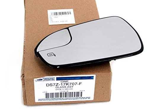 2013-2014 Ford Fusion Left Driver Side View Mirror Glass Power Heated OEM NEW DS7Z-17K707-F ()