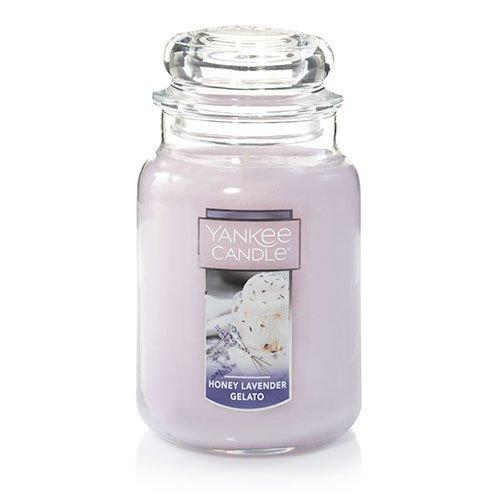 Yankee Candle Large Jar Candle, Honey Lavender Gelato