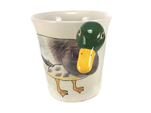 - Mug Duck Enamel Cartoon Painted Animal Milk Glass for Kid Bird