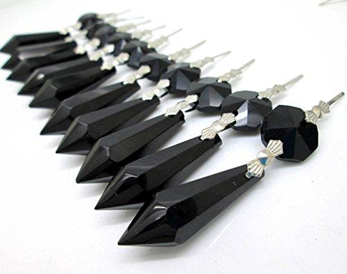 38mm Crystal Chandelier Icicle U-drop Prisms Lamp Pendants Pack of 20