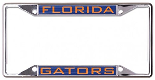 WinCraft Florida Gators License Plate Frame, Metal with Inlaid Acrylic, 4 Mount Holes