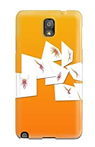 Tpu Fashionable Design Orange Preview White Rugged Case Cover For Galaxy Note 3 New