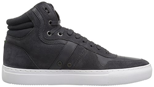 Boss Green Av Hugo Boss Mens Enlight Mocka Hög Topp Sneaker Mörkgrå