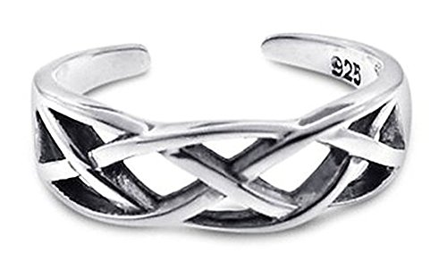 Sterling Silver Toe Ring Celtic Wave One Size Fits (Sterling Silver Celtic Wave)