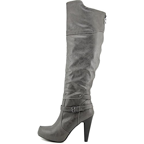 GUESS Trinna Fashion Knee Closed High Boots Toe Gray Womens rS1wq5nZr