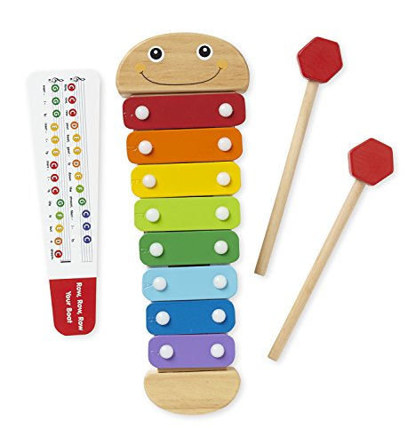 Melissa & Doug Caterpillar Xylophone Musical Toy With Wooden Mallets (Xylophone Musical Wooden Toy)