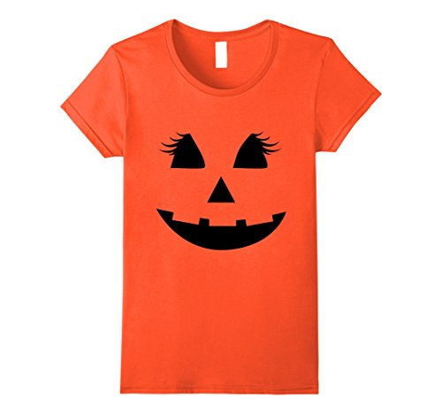 Womens Pumpkin Face - Halloween Costume Women's T-shirt Small (Pumpkin Face Halloween Costume)