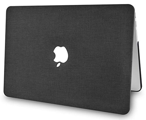 "KECC Laptop Case for Old MacBook Pro 15"" Retina (-2015) w/Keyboard Cover Plastic Hard Shell Case A1398 2 in 1 Bundle (Black Fabric)"