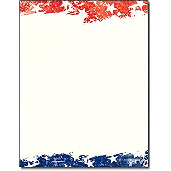 amazon com independence patriotic flag stationery paper 80 sheets