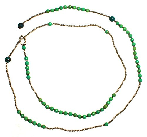 Bijoux De Ja Simulated Green-Turquoise Howlite Beads Y-Necklace 34 Inches by Bijoux De Ja (Image #3)