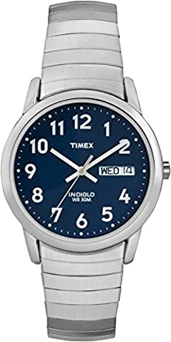 Timex Men's T20031 Easy Reader Silver-Tone Stainless Steel Expansion Band Watch (Watch With Date)