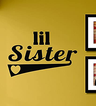 Amazon.com: Lil Sister Vinyl Wall Decals Quotes Sayings ...