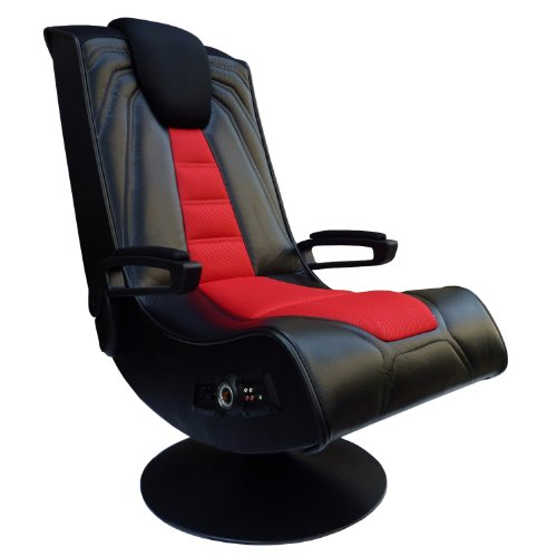 X Rocker Pedestal Extreme Iii 2 1 Sound Wireless Video Foldable Gaming Chair W Pedestal Base And 2 Speaker High Tech Audio System Subwoofer Padded Armrests Black And Red 5149201