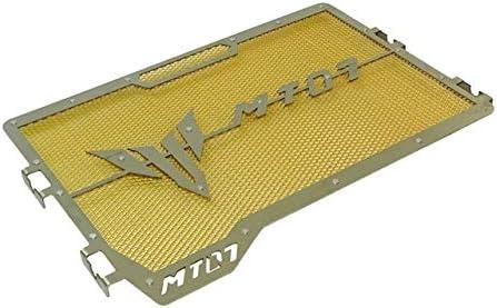 Color : Gold for Yamaha MT07 MT07 2014 2015 2016 2017 2018 2019 2020 SZHSM Moto Mesh radiatore Motocicletta della Calotta di Protezione del radiatore Griglia Protettiva griglia Protector
