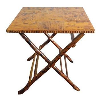 Captivating Bamboo Square Folding Table