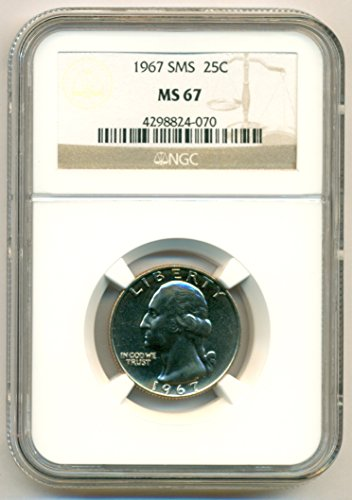 1967 Washington SMS Quarter MS67 NGC