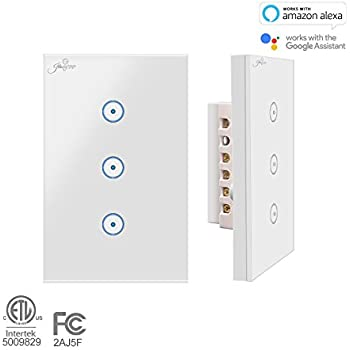 Smart Wall Light Switch Broadlink 220v 3 Gang Touch Panel