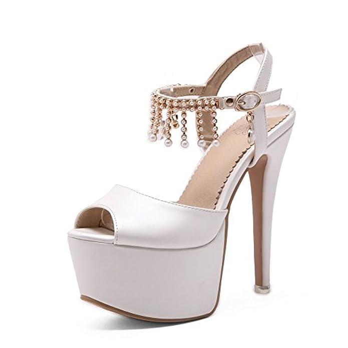 White Bianco Sconosciuto Sandali 1to9 E Da Borse 35 Donna Ballerine P08nwOXk