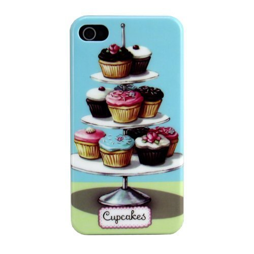 Apple iPhone 4 4S CUPCAKES Tablet sweet Cover Schutz-Hülle Hard Case Schale thematys®