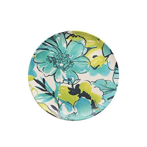 caribbean-joe-teal-floral-set-of-4-salad-plates