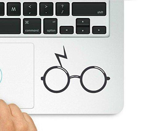 Wicked Decals Glasses Trackpad Laptop Vinyl Decal Sticker Compatible with MacBook Retina, MacBook Air, MacBook Pro