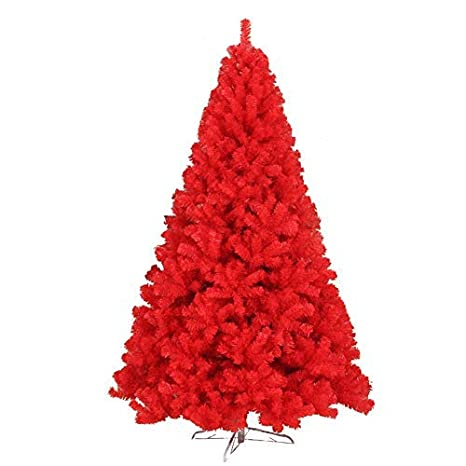 1.5M Albero di Natale Artificiale Alberi Basamento del Metallo 1.2M 1.8M Sky Blue Christmas Decorazioni per la casa,Rosso,1.2CM