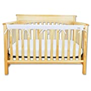 Trend Lab Fleece CribWrap Rail Cover for Long Rail, White, Narrow for Crib Rails Measuring up to 8  Around!