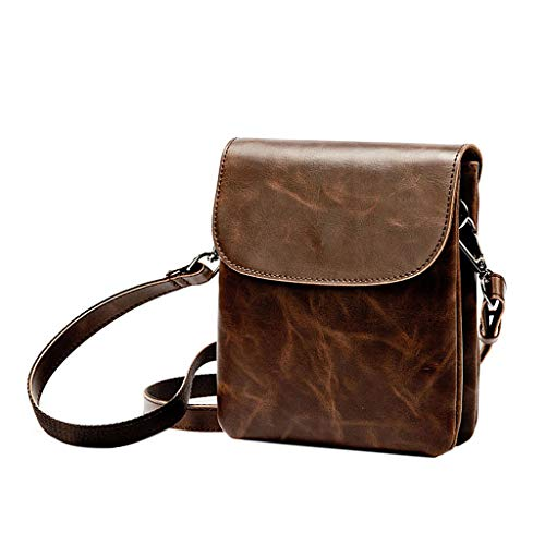 Wanfor Messenger Leather Crossbody Handbag Fashion Men Faux Shoulder Tote Bag Travel Bags xxWwrSBtq4