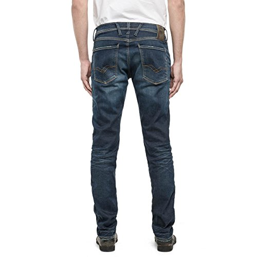 Anbass Replay Uomo Slim Blue Jeans gPqnZqwdx