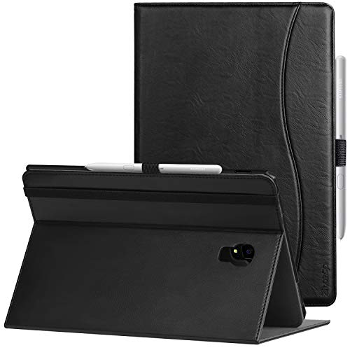 Ztotop Folio Case for Samsung Galaxy Tab S4 10.5 Inch 2018(SM-T830/T835/T837), Premium Leather Folding Stand Cover with Auto Wake/Sleep, S Pen Holder and Multiple Viewing Angles,Black
