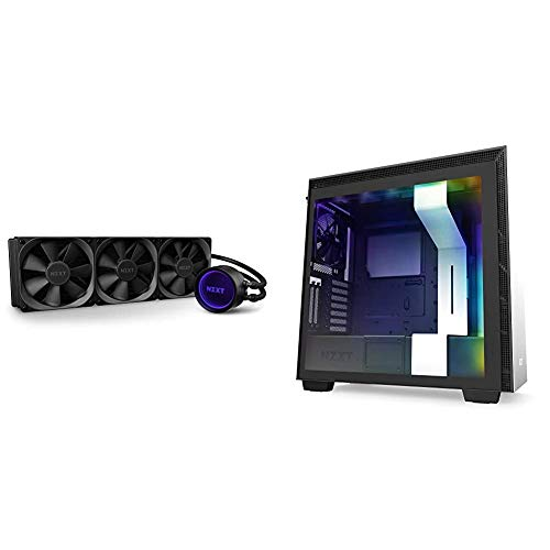 NZXT Kraken X73 360mm - AIO RGB CPU Liquid Cooler - AER P 120mm Radiator Fans (3 Included) & H710i - CA-H710 i-W1 - ATX Mid Tower PC Gaming Case - Front I/O USB Type-C Port - White/Black