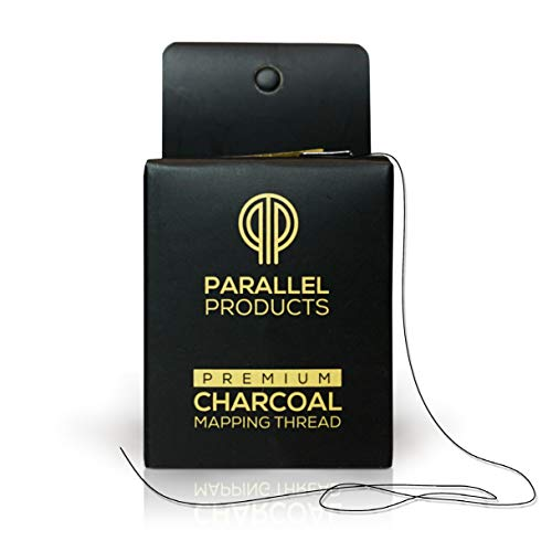 Parallel Products - Premium Eyebrow Mapping String for Microblading - Pre-Inked - 1 mm Fine Bamboo Charcoal Thread (The Best Eyebrow Products)