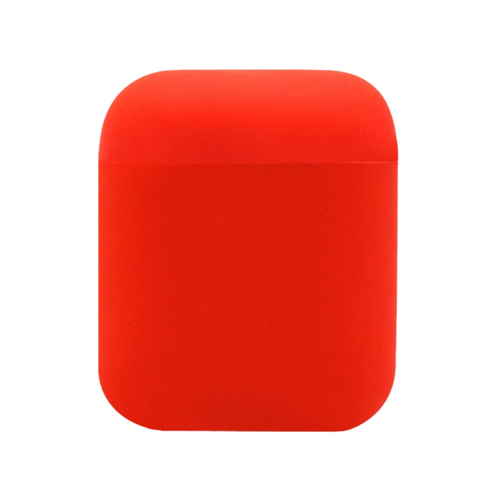 Earphone Case,Sikye Durable Impact-resistant Silicone Protective Cover Skin for AirPods Charging Case,Gift for Girls and Women (Red)