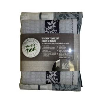 World S Best Kitchen Towel Set Silver Home