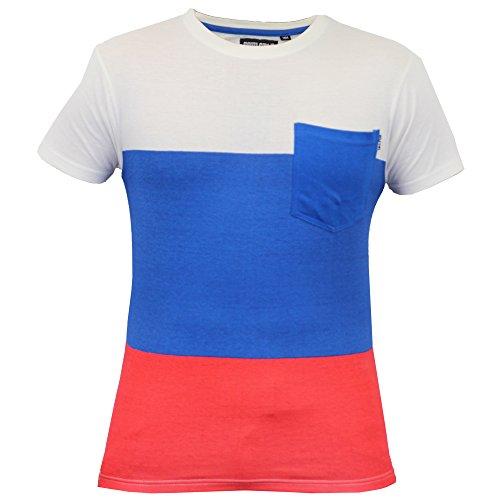 Herren Kurzärmelig Gestreift T-shirts Von Soul Star - Ecru - PRISSYPKB, M