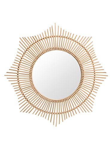 KOUBOO 1040155 Rattan Round Halo Wall Mirror, Natural by Kouboo