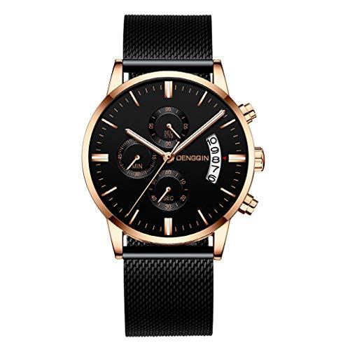 WoCoo Fsshion Luxury Analog Quartz Date Watchwatches wrist watch bands pocket smartwatches Designer Watches with Stainless Milanese Mesh Strap (I) ()