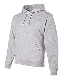 Jerzees Men\'s NuBlend Youth Hooded Sweatshirt ( Ash/Large)