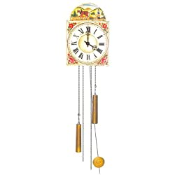 Original Eight Day Movement Special Cuckoo Clock with Horse Image 13.5 Inch